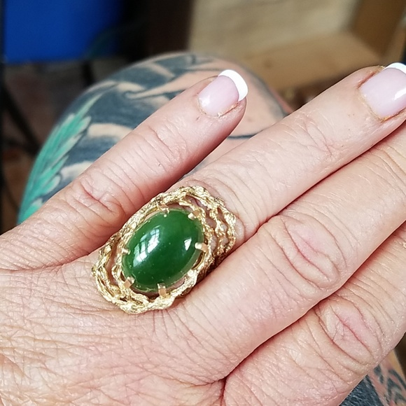 Big Sur Jade Ring Size 7